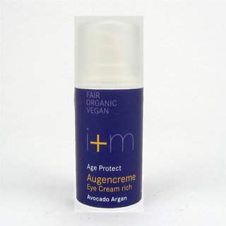 I+M Naturkosmetik Age Protect Augencreme Avocado Argan 15 ml