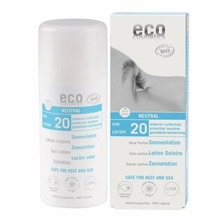 Eco Cosmetics Neutral Sonnenlotion LSF 20 ohne Parfum 100 ml