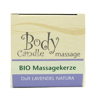 Stuwa Lavendel Natura Bio Massagekerze 115 ml Design Metalldose in Schachtel